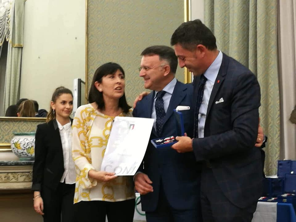 Al Presidente Iannetta LA CROCE DI BRONZO al Merito Sportivo